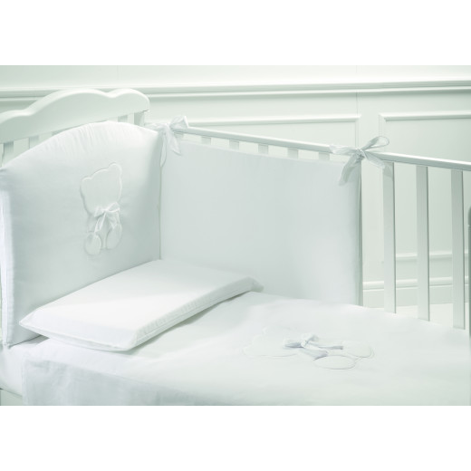 Baby Expert Bed Set 5pcs Teddy - White