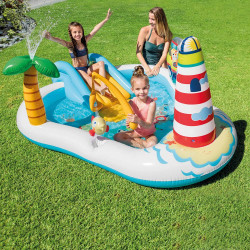 مركز اللعب المائي مايستك يونيكورن القابل للنفخ للأطفال بعمر 3 من انتكس