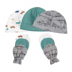 Colorland = (3) Baby Hat & Gloves 3 Pieces In One Pack