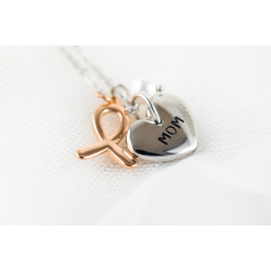 Hope Shop By KHCF -Mom Necklace - Silver And Plated Gold