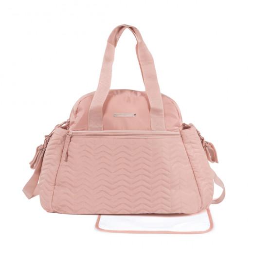 Pasito a Pasito Pasito Furs Pink Nappy Bag with Changing Mat