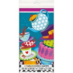 Amscan Mad Hatter Tea Party Plastic Tablecloth, 84x54 cm