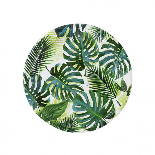 Talking Tables - Tropical Fiesta Palm Leaf Paper 8 Plates