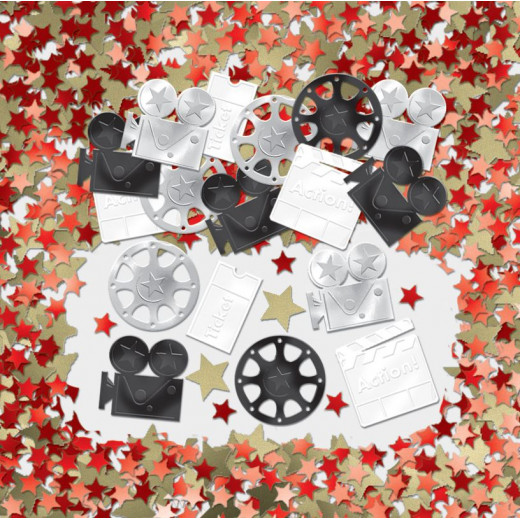 Amscan - Holly Wood Lights Camera Action Oscars Movie Party table Confetti Decoration