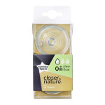Tommee Tippee Closer To Nature Slow Flow Teats x2