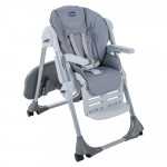 Chicco Polly Easy High Chair, 4 Wheels, Nature