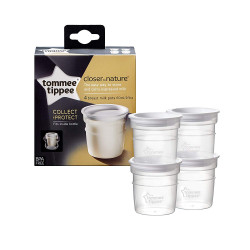 Tommee Tippee Milk Storage Pots x 4