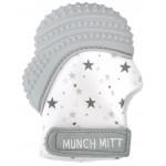 Munch Mitt Teething Mitten, Gray Stars