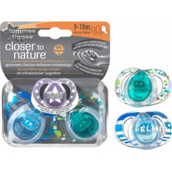 Tommee Tippee Soother Fashion Style 9-18 months, (2 pieces)