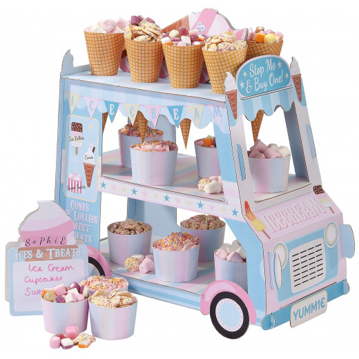 Talking Tables - Street Stalls Card 3-Tier Ice Cream Van Stand