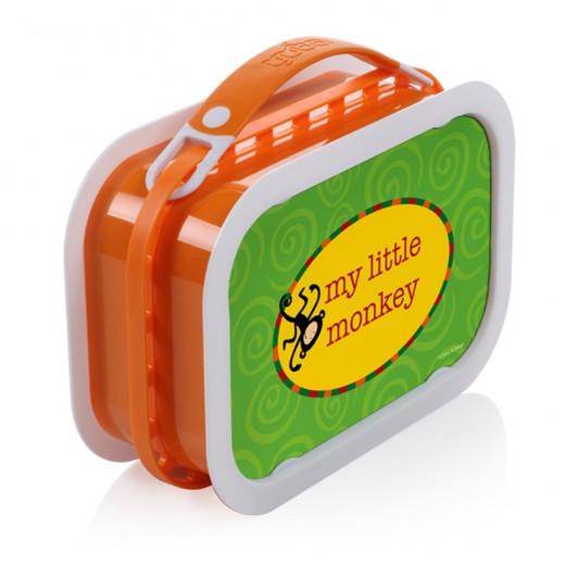 Yubo Deluxe Lunchbox-Color: Orange-Jungle