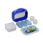 Yubo Deluxe Lunchbox-Color: Blue-Dinosaur