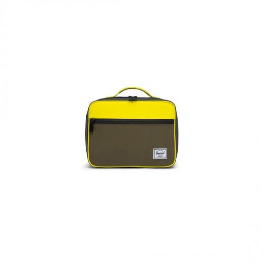 Herschel Pop Quiz Lunch Box  Color: Sulfur Rfl/Oliv