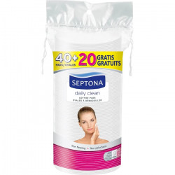 Septona Oval Double-Faced Cotton Pads (40 pads+20 Free)