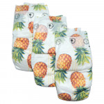Pure Born - Organic Nappy Size 4, Pineapple Print, 7-12 Kg, 24 Nappies
