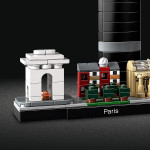 LEGO Architecture Paris Model Building Set with Eiffel Tower and The Louvre, Skyline Collection