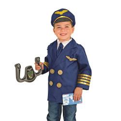 زي تنكري للعب دور طيار لعمر 3-6 سنسن من ميليسا آند دوج