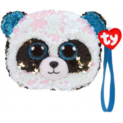 TY FASHION SEQUIN PANDA BAMBOO PURSE