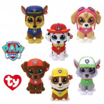 TY Beanie Boos Mini - Paw Patrol Collectible Plush - 6 Designs - Only 1 Plush toys, Random Selection