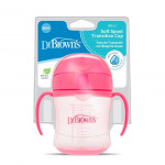 Dr. Brown's 180 ml Soft-Spout Transition Cup - Pink w/ Handles (Stage 1: 6m+)