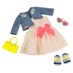 Our Generation Deluxe Heartprint Dress Outfit