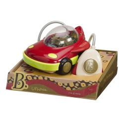 B toys by Battat – Space Car UFWhoa! – One Button Remote Control Light-Up Toy Space Car for Babies and Toddlers