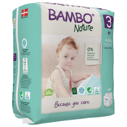 Bambo Nature Diapers Size 3 (4-8 Kg), 28 diapers