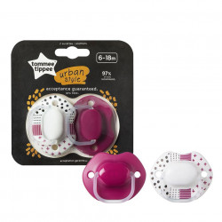 Tommee Tippee Soother Urban 6-18 Months For Girls