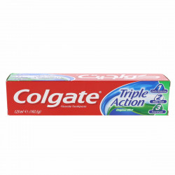 Colgate Triple Action Toothpaste, Original Mint, 125 ml