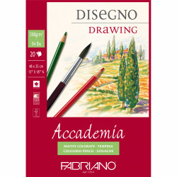 Fabriano Accademia Drawing Pad 200 G, 20 sheets (size 48cm * 33cm)