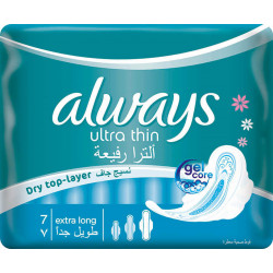 Always Pads Ultra Thin Extra Long 7 pads