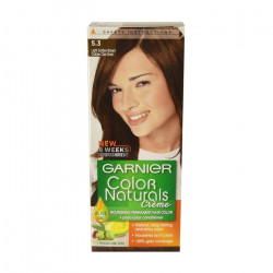 Garnier Color Naturals Nourishing Cream Hair Dye, 5.3 Light Golden Brown