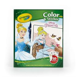 Crayola Disney Princess Color And Sticker Book 4*6