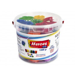 Heroes 10 Color Bucket Game Dough + 6 Mold