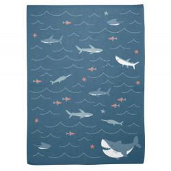 Stephen Joseph Knit Baby Blankets, Shark