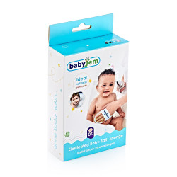 BabyJem Baby Bath Sponge with Hand Grip