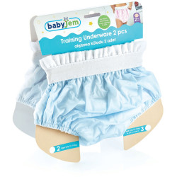 BabyJem 2 Piece Luxury Training Pant, 3 Age Blue Toilet Training Slip