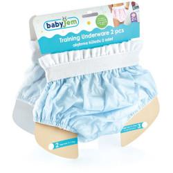 BabyJem 2 Piece Luxury Training Pant, 2 Age Blue Toilet Training Slip