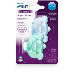 Philips Avent Soothie Shape +3 m, Blue&Green