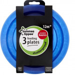 Tommee Tippee Feeding Plates, Pack of 3, Blue