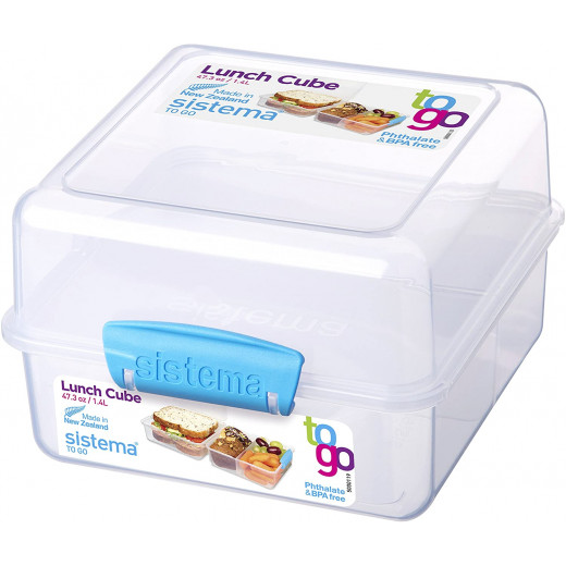 Sistema Lunch Cube To Go, 1.4 Litre - Blue