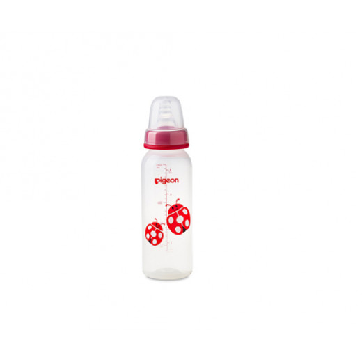 Pigeon Decorated Bottle - (Slim Neck) 240ml 1PC - Red