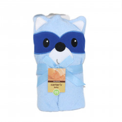 Carter's Friends Boy and Girl Animal Face Hooded Towel, Fox
