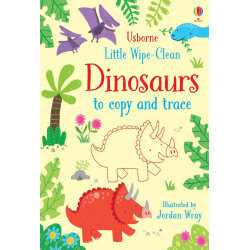 Little Wipe-Clean Dinosaurs to Copy and Trace, 24 pages