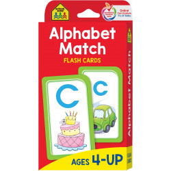 School Zone Alphabet Match Cards: Ages 4-6, 56 cards