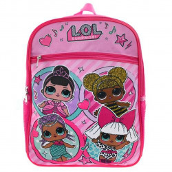 LOL Surprise School Backpack - Four Friends with Front Pocket - Pink - 41 cm