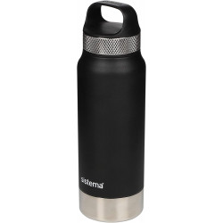 Sistema 1 Liter Stainless Steel - Black