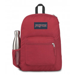 JanSport Cross Town Remix Backpack, Viking Red Heathered 600D