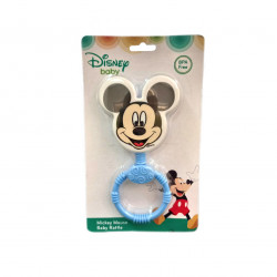 Mickey Head Shaped Baby Rattle, Blue