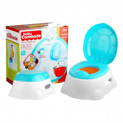 Commode 3 in1 Baby Potty Trainer Seat Step Stool
